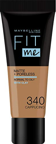 Maybelline New York Fit Me Matte and Poreless Foundation, 340 Cappucino, 42 gm