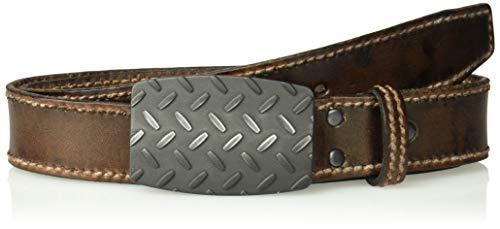 Preisvergleich Produktbild ARIAT Herren Basic Stitch Edge Diamond Plate Buckle Belt Gürtel,  braun,  36