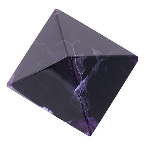 Figura piramidal, pirámide de Amatista, como pisapapeles La