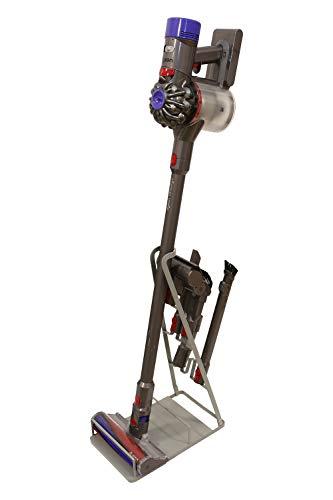 Bison Ständer - Organizer für Dyson V6,V7,V8,V10,V11,DC30,DC31,DC34,DC35 Akkusauger Standfuss Halterung Rahmen und für viele andere Akkusauger Hersteller (Anthrazit)