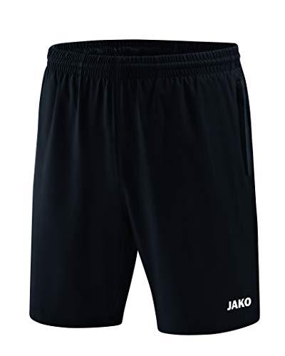 JAKO Pantalones Cortos Profesional y Faldas, Todo el año, Hombre, Color Negro, tamaño 4XL