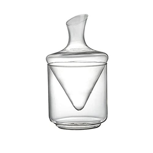 ZLHW 1pc Classic Tinto Vino Decantador Transparente Vidrio Dispensador Vidrio Cubo de hielo