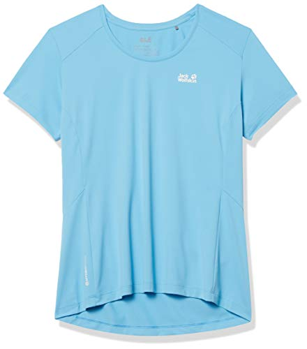 Jack Wolfskin Damen Narrows T-Shirt, Misty Blue, XS
