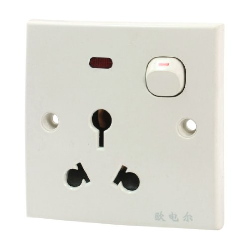 Aexit AU Südafrika 3P-Steckdose 1 Schalter Power Wall Plate AC 250V 16A (7975a682fb6940b53ba61e3390db69f7)