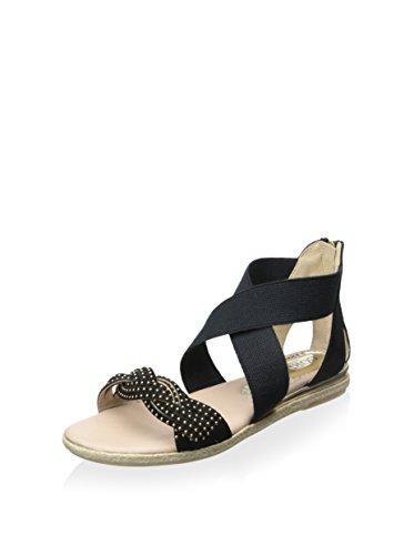 Cordani Womens Ibiza Fabric Open Toe Casual Sport Sandals, Black Suede, Size 9.0