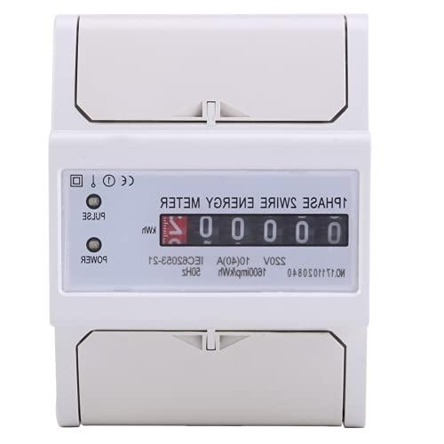 Medidor Eléctrico, Medidor De KWh, Monofásico, 2 Cables, Carril DIN, Energía Electrónica, Medidor De KWh, Consumo, Vatímetro, Medidor De Energía, 10 (40) A
