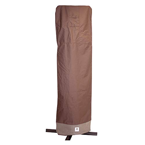 Duck Covers Ultimate Waterproof 101 Inch Patio Offset Umbrella Cover with Integrated Installation Pole