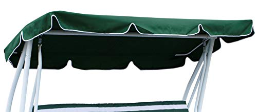 DEGAMO Dachplane für 4-sitzer Hollywoodschaukel Miami 228x120cm (Grün)