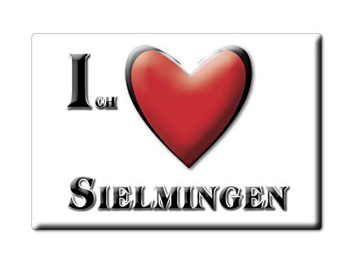 Enjoymagnets SIELMINGEN (BW) Souvenir Deutschland Baden WÜRTTEMBERG Fridge Magnet KÜHLSCHRANK Magnet ICH Liebe I Love