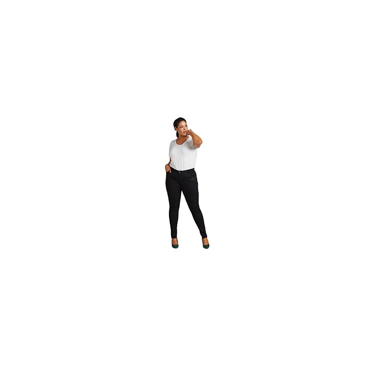 Zizzi Damen Sanna Jeans Extra Slim Fit Jeanshose Hose