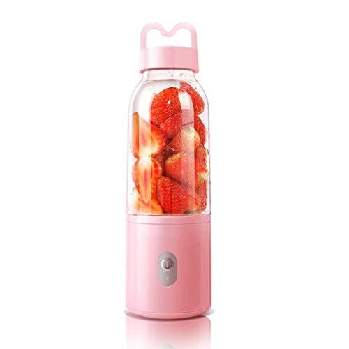 Licuadora personal, mini licuadora de 500 ml y 4 cuchillas, recargable por USB, máquina mezcladora de frutas portátil, para batidos, batidos, bebidas de frutas y verduras, hielo (azul) (color: azul)