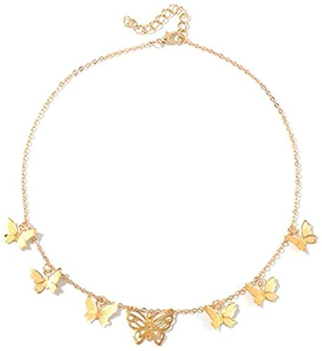 CCXXYANG Co.,ltd Necklace Boho Necklace Cute Butterfly Choker Necklace for Women Clavicle Chain Statement Necklace Female Choker Jewelry