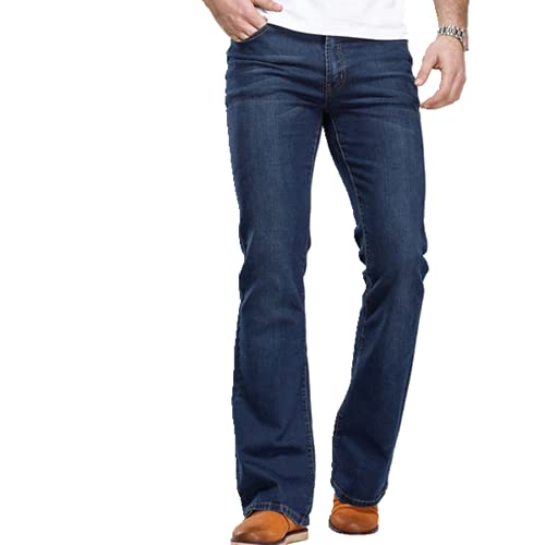 N\P Botas de los hombres Jeans ligeramente acampanados Slim Fit Stretch Denim Fabric