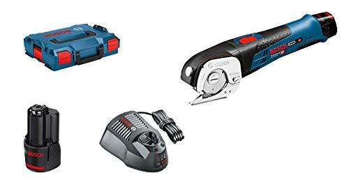 Bosch Professional GUS 12V-300 - Cortador a batería (2 baterías x 2.0 Ah, 12 V, Autoafilado, hasta 3 mm en PVC, en L-BOXX)