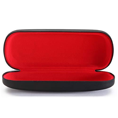 ALTEC VISION Glasses Case - Fits Small Medium Sunglasses - Black/Red