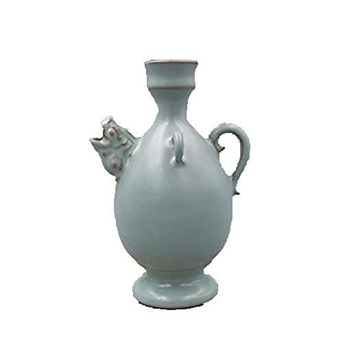 Fashion158 Dierenkop Dubbele Pot Pot Antieke Porselein folk Collectie retro thee Ceremonie Gebruiksvoorwerpen Ornamenten