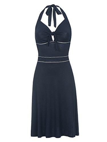 Vive Maria Big Sea Holderneck Damen Kleid Dunkelblau, Größe:XL