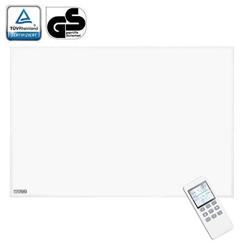 VINGO 1100Watt Infrarot Heizung, mit Thermostat Ultraflach Heizpaneel, IP54 Heizbild ultraflache Heizpaneel für Steckdose Elektroheizung