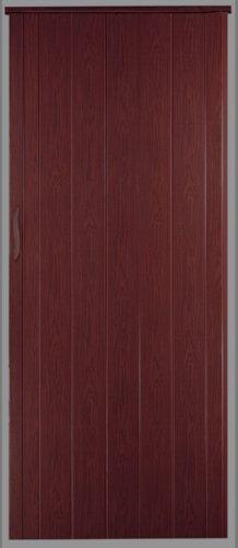 Falttür Schiebetür Tür mahagoni farben mit Schloß/Verriegelung Höhe 202 cm Einbaubreite bis 109 cm Doppelwandprofil Neu