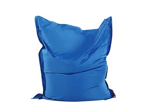 Beliani Praktisches, lustiges Sitzkissen Polsterbezug EPS Kugel 140x180 cm blau