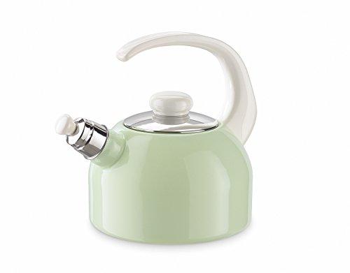Riess - Flötenkessel - Wasserkessel - Emaille - pastellgrün - Höhe 22 cm - 2 Liter