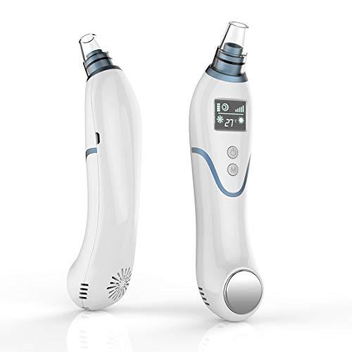 Extractor eléctrico de puntos negros,  CLORIS para limpieza facial de poros con pantalla LED de función de frío y calor