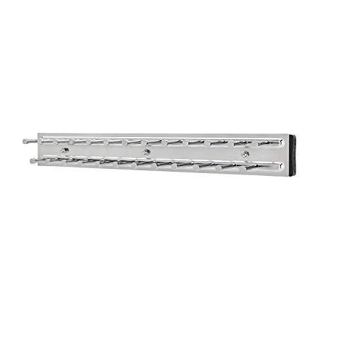 Rev-A-Shelf TRC-14CR 14-Inch Side Mount Extending Closet Tie and Belt Hanger Organization Storage Rack Holder for Up to 25 Ties Chrome