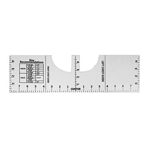 Tidyard Regla de alineación de Camisetas Regla de artesanía Herramienta de medición de Camisetas acrílicas Escala Negra Transparente para Hacer un diseño de Centro de Moda 16 * 5 Pulgadas