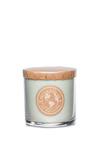 Eco Candle Co. Recycled Candle, Chamomile SAGE, 6oz - 100% Soy Wax, No Lead, Kraft Paper Label & Lid, Hand Poured, Phthalate Free, Made from Midwest Grown Soybeans, All Natural Wicks
