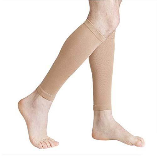 Triamisu Mangas de compresión para pantorrillas Calcetines de compresión para piernas para espinilla Alivio del Dolor de pantorrillas Hombres Mujeres Manga para Correr Ciclismo - Piel