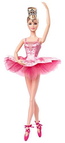 Barbie GHT41 - Barbie Signature Ballet Wishes Pop, ca. 30 cm groot, met tutu, topschoenen en diadem, cadeau voor kinderen vanaf 6 jaar.
