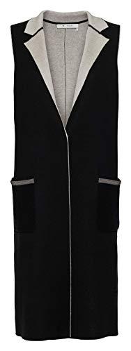 Monari Doublefacevest met kettingdetails Fb. zwart