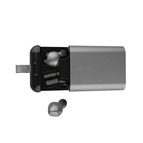 AVIOTTE-D01bBluetoothイヤホン完全ワイヤレスQCC3026搭載IPX7完全防水iPhoneandroid対応(ガンメタル)