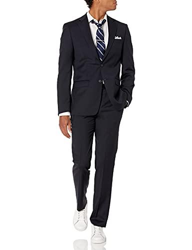 Calvin Klein Men's Slim Fit Stretch Suit, Navy Dark, 40 Regular