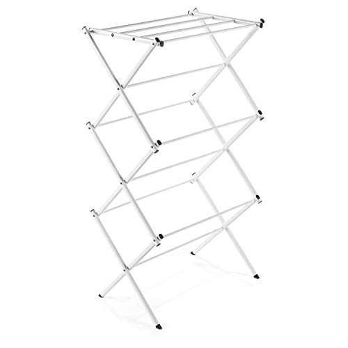 Polder Compact Accordion Clothes Drying Rack White