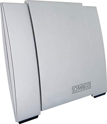 SCHWAIGER -DTA3000 011- DVB-T2 Allround-Antenne   Empfang von Radio- und Fernsehprogrammen   integrierter LTE-Sperrfilter   eingebauter Verstärker   silber