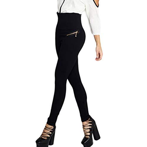 QXLhxuIo Leggings de Uso Diario Mujer Deporte Cintura Alta Mallas Pantalones Deportivos Leggins con Bolsillos para Yoga Running, Fitness, Ejercicio,Termicos,Push up (L) (M)