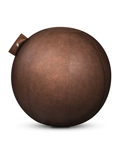 STRYVE ® Ball Gymnastikball (65 cm, 70 cm) Sitzball Büro, Balance Ball mit Anti-Rutsch Oberfläche (Pendelwirkung & Belastbar bis 150kg)