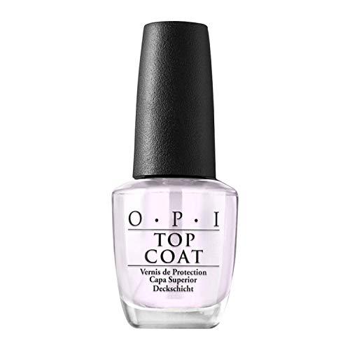 OPI Nail Lacquer Top Coat – Durchsichtiger Überlack mit bis zu 7 Tagen Halt – Ergiebig, langlebig & splitterfest – NTT30 – 15 ml