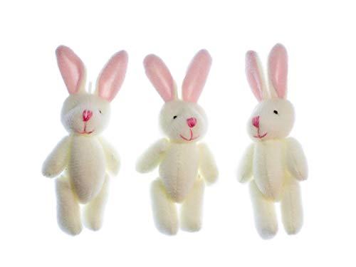 Miniblings 3er Set Hase Aufstellfiguren Tierfigur Ostern Kaninchen weiß Plüsch