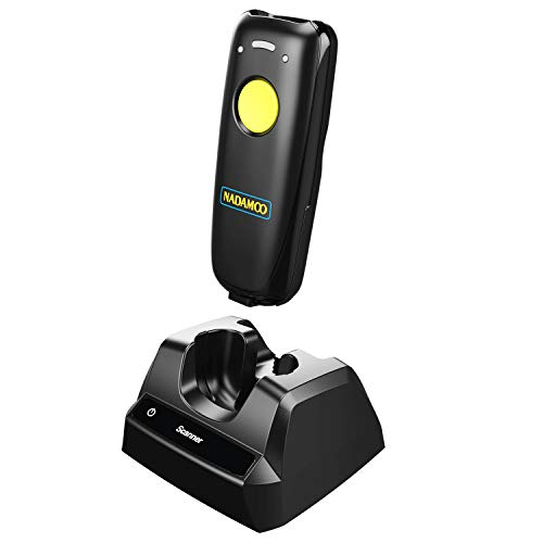 Cheap NADAMOO Wireless Barcode Scanner Bluetooth Compatible, Small Portable USB 1D 2D QR Code Scanne...