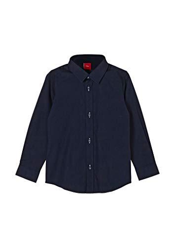 s.Oliver Junior Jungen 404.10.011.11.120.2062080 Hemd, Dark Blue, 104/110.Slim