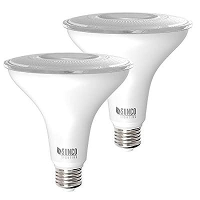 Sunco Lighting 2 Pack PAR38 LED Bulb 13W=100W, 5000K Daylight, 1050 LM, Dimmable, Indoor/Outdoor Spotlight, Waterproof - UL & Energy Star