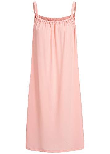 Styleboom Fashion® Damen Kleid A-Line Beach Strap Dress Sommerkleid rosa, Gr:L