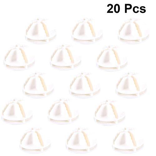 Fiween Fil Blanc Cube Connecteurs en Plastique pour Cube Rayonnage et Armoire modulaire Organisateur Closet Boucle déployante Clip 20 Pcs