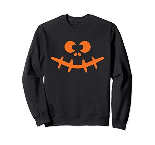 Spooky Halloween Face Einfaches Last-Minute-Halloween-Kostüm Sweatshirt