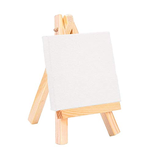 TADAMI Kids Art Set,Children's Painting Tools,Multiple-Use Painting Canvas Tabletop Easel,Young Artist Easel,Kids Wooden Art Easel with Oil Painting White Canvas,Best Gift for Kids Boys Girls