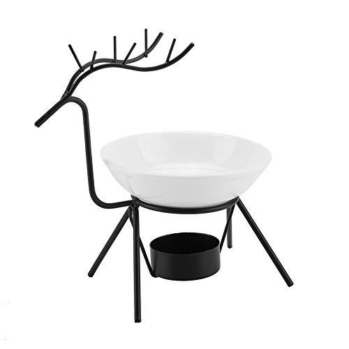 Yissone Deer Shape Candle Holder Iron Essential Oil Aroma Melts Burner Reindeer Tea Light Holder Creative Nordic Home Decoration for Christmas Festival Party