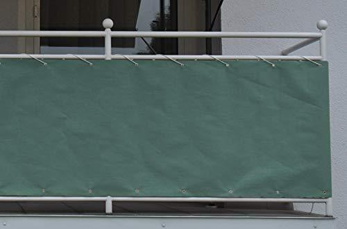 Angerer Style 90 cm hoch, Länge: 6 Meter Balkonbespannung, grün