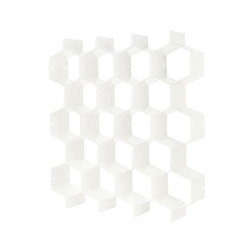 QIZILAN Honungskaka formad låda organisatör 8 st garderobsavdelare plastdelare för små kläder och kosmetisk klapboard